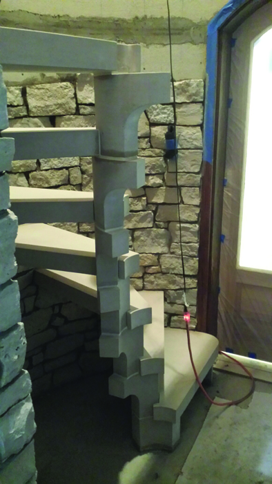 Lighting Basement Washroom Stairs: Unique Stone Stair Aims To Look Light As Air