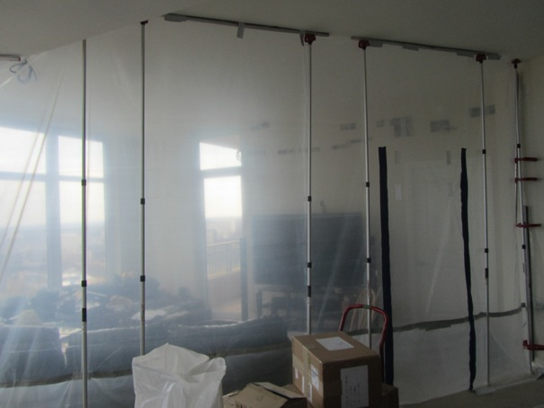 Poly and ZipWall containment wall