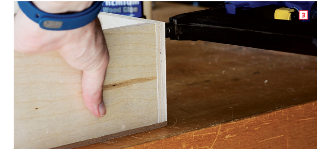 How to make drawer boxes—pinning everything in place with brads