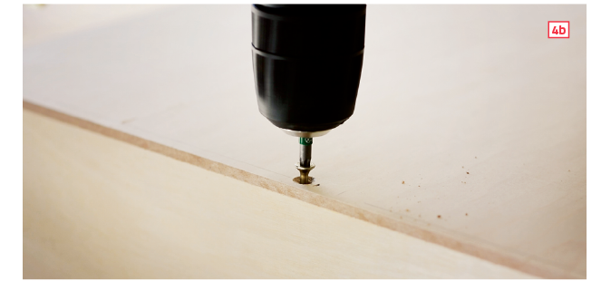 How to make drawer boxes—star-drive wood screws