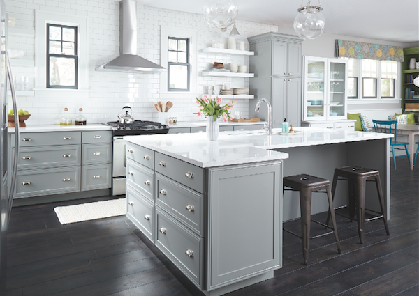 Decora cabinets, grey palette kitchen