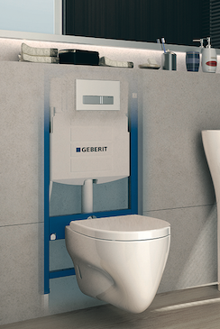 low maintenance is the hallmark of this inwall carrier system from geberit if repairs are needed the plumber can easily access any internal components - Wall Hung Toilet