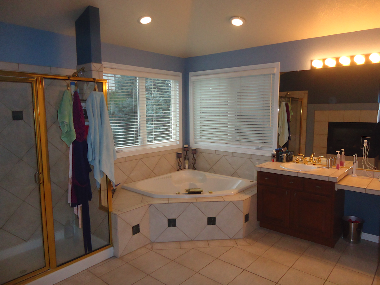 1980s bathroom before remodeling
