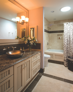 Bathroom Lighting Design bathroom lighting ideas In The Master Or Guest Bathrooms Use Fixtures That Provide At Least 75 To 100 Watts Of Illumination Says Randall Whitehead A Well Known Lighting Expert