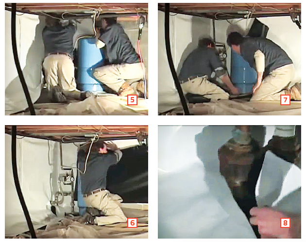 Installing a vapor barrier in a sealed crawlspace-working around obstacles and dealing with penetrations