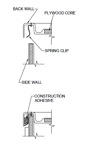 SpringClip wall joint section detail