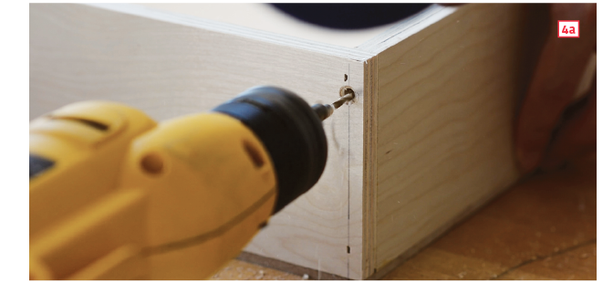 How to make drawer boxes—predrill countersunk pilot holes