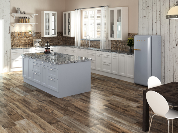 A good choice for homeowners looking for ways to add a unique touch, the Outland series from Colorker is available in four shades: Winter, Deep, Nature, and Silver and five sizes, as well as six additional specialty pieces, including a mosaic option.