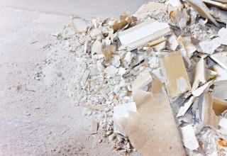 drywall can be messy if you don't demo it right