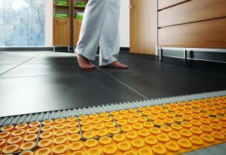 schluter system for a heated floor for remodelers