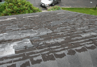 Old asphalt shingle roof. Photo: Flickr user Brian Robinson (CC BY 2.0)