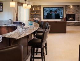 2015 Design Awards winner, Gold, AMEK Custom Builders, Minnesota, basement remodel