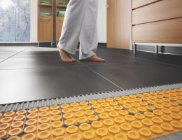 DitraHeat by schluter system for heated floor