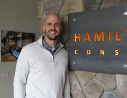 Justin Hamilton, Partner at Hamilton Stern Construction, in Pittsford, N.Y., 2016 Professional Remodeler 40 Under 40 awardee
