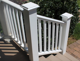 Intex Hampton extruded PVC railing system