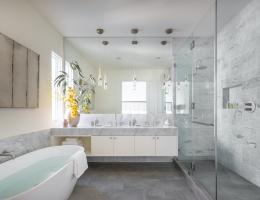 Master bath with feng shui principles