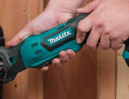The Makita RJ03R1 Cordless Recipro Saw is compact and has several useful features