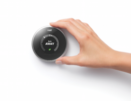 The Nest smart thermostat collects user behavior data