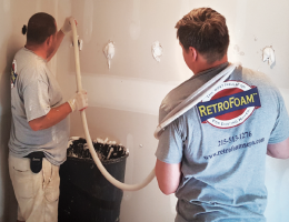 RetroFoam installation