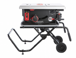 The SawStop portable table saw adds a number of firsts to its pioneering blade-stopping technology.