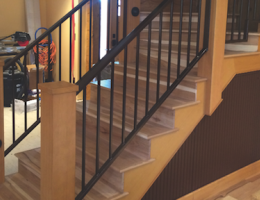 Boxed-newel stairs