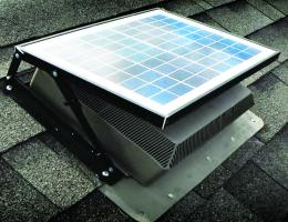 fully installed isolar solutions solar attic fan