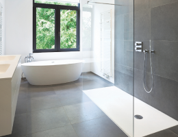 Large walk in showers are popular in remodeling