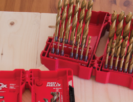 Impact Duty Titanium Red Helix Twist Drill Bits are suitable for drilling wood, iron, steel, aluminum, magnesium, and similar materials.