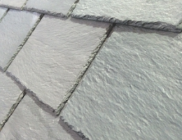 Ply Gem engineered slate roof close-up photo.
