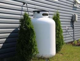 propane on side of home