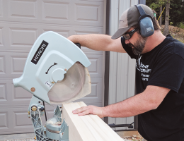 remodeler using a metabo miter saw
