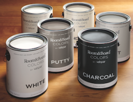 Valspar has teamed up with Room & Board to offer a new line of paints.