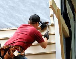 siding installation on a home