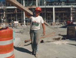 female worker on construction jobsite