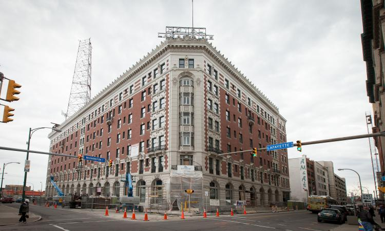 The  Hotel Lafayette in Buffalo, N.Y., includes 67 one bedroom, 48 two bedroom a