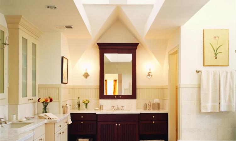 In This Bathroom For A Master Suite Addition To A Tudor Style Home, Most