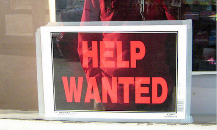 Help-wanted sign
