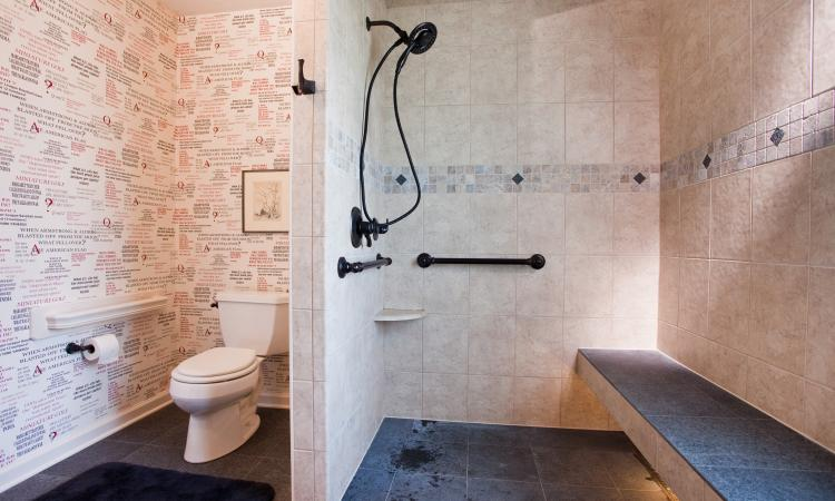 The most asked-for aging in place project is a bathroom renovation.