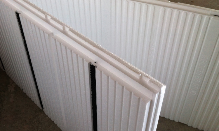 InSoFast insulated panels are interlocking. Photo: courtesy InSoFast