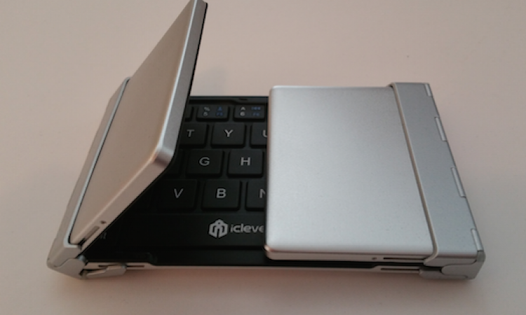 The IC-BK03 from iClever is a compact Bluetooth keyboard that folds.