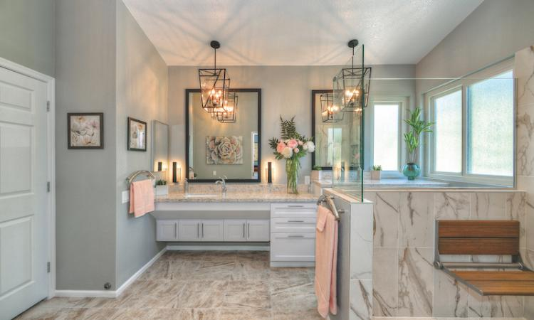 Master Bath with Aging in place design