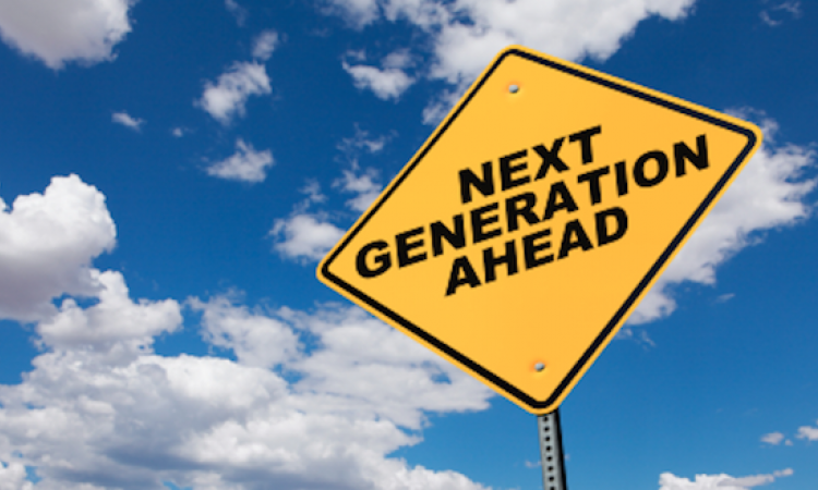 """Road sign reads """"Next Generation ahead."""""""
