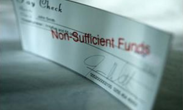 Check marked non-sufficient funds