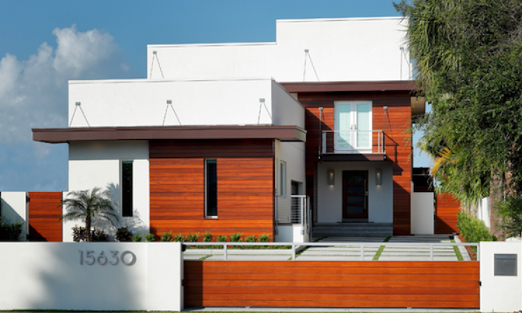 2015 Design Awards, Front Facade, Florida Beach House, Deslandes  Contracting With Roney Design