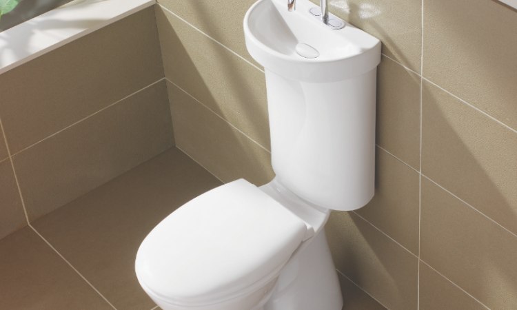 This WaterSense certified gray-water system is useful where space is tight. The