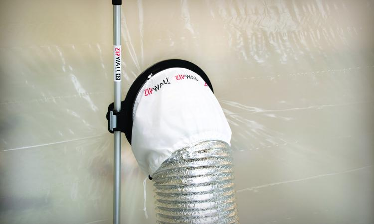zip wall dust barrier passthrough makes it easier for remodelers