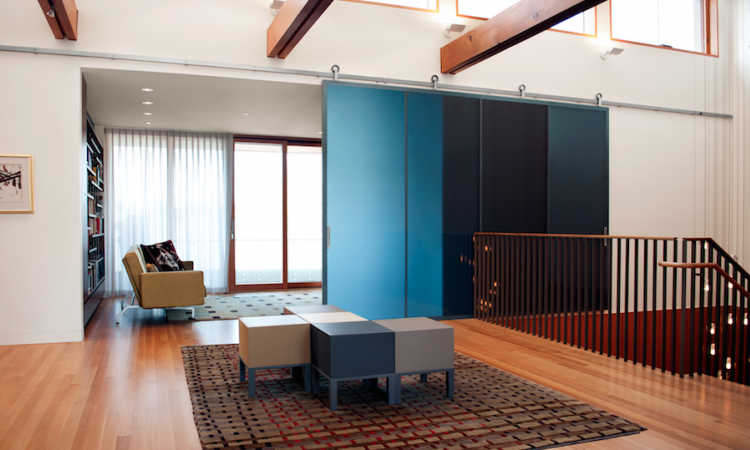 Barn doors can be used to add a pop of color. Photo: courtesy Baldur by Krown Lab