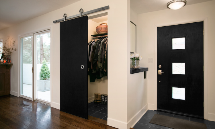 Barn doors can be used for closets and pantries. Photo: courtesy Baldur by Krown Lab