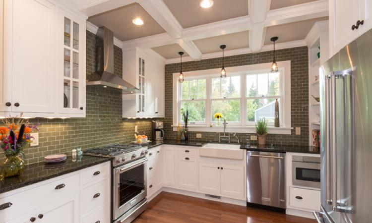 This kitchen remodel emphasizes the home's 1920 motif. Photo: courtesy J.S. Brown & Co.