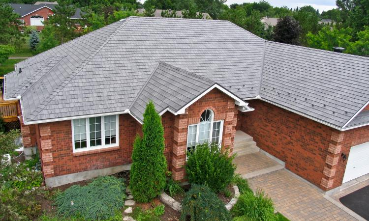 house with metal roofing